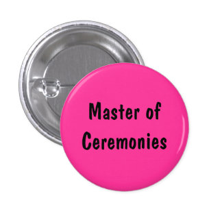 Master of Ceremonies Buttons