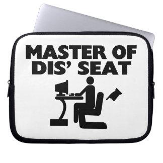 Master Of Dis Seat Computer Laptop Sleeves