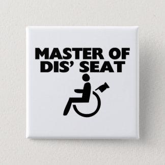 Master Of Dis' Seat Wheelchair 15 Cm Square Badge