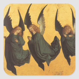 Master of Housebook, Renaissance Christmas Angels Square Sticker