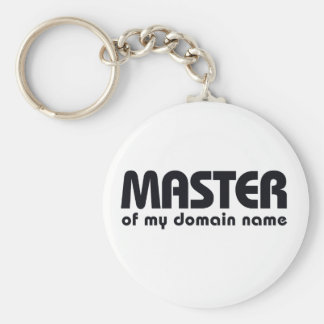 Master of my Domain Name Basic Round Button Key Ring