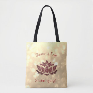 Master of Reiki Lotus design Tote Bag
