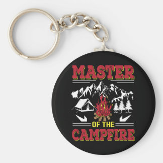 Master Of The Campfire Funny Camping Shirt Key Ring