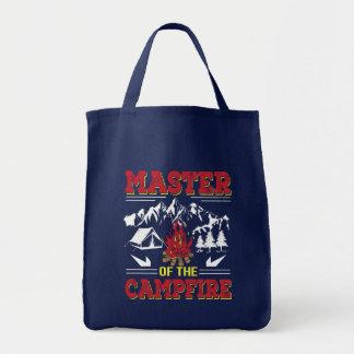 Master Of The Campfire Funny Camping Shirt Tote Bag