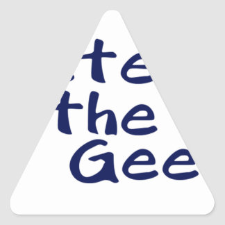 Master of the geeks triangle sticker