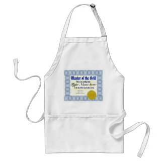 Master of the Grill BBQ Chef Certificate Apron