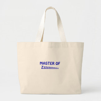 Master of Zzzzzz Large Tote Bag