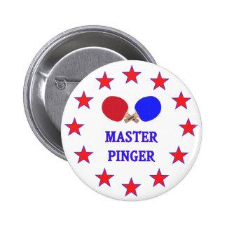 Master Pinger Ping Pong 6 Cm Round Badge