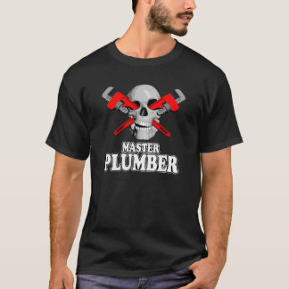 Master Plumbers Skull T-Shirt