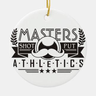 masters athletics shot put ceramic ornament