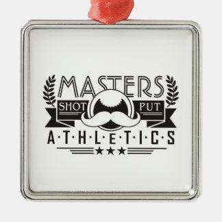 masters athletics shot put metal ornament