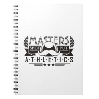 masters athletics shot put notebook