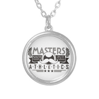 masters athletics shot put silver plated necklace