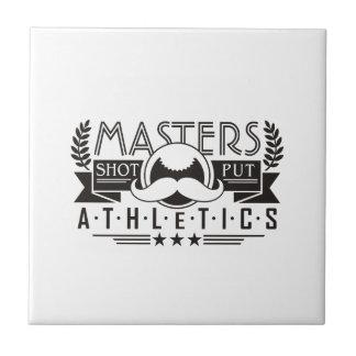 masters athletics shot put tile
