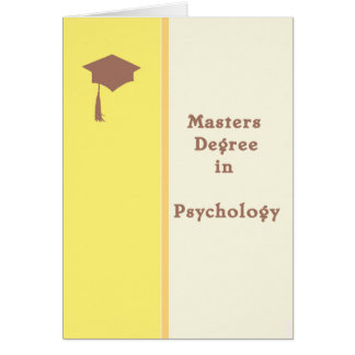 Masters Degree in Psychology Greeting Card