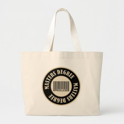 Masters Degree Priceless Tote Bags