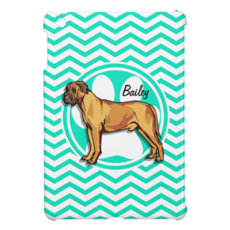 Mastiff; Aqua Green Chevron iPad Mini Cases