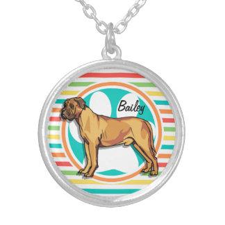 Mastiff Bright Rainbow Stripes Necklaces