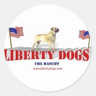 Mastiff Classic Round Sticker