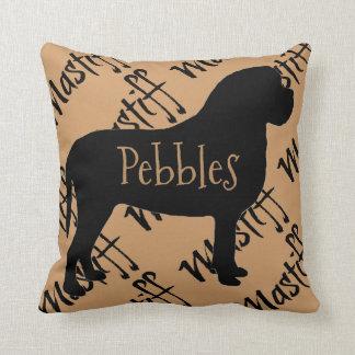 Mastiff Dog Silhouette Custom Pillow