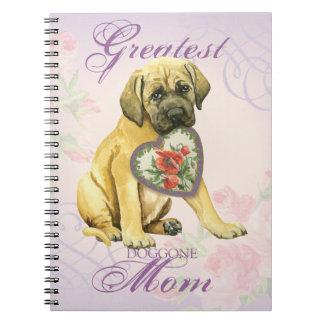 Mastiff Heart Mom Note Book