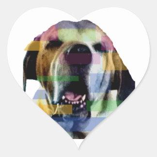 Mastiff Heart Sticker