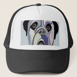 Mastiff in Denim Colors Trucker Hat