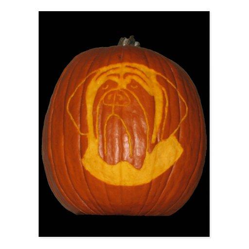Mastiff Pumpkin Postcard