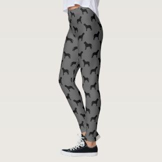 Mastiff Silhouettes Pattern Grey and Black Leggings