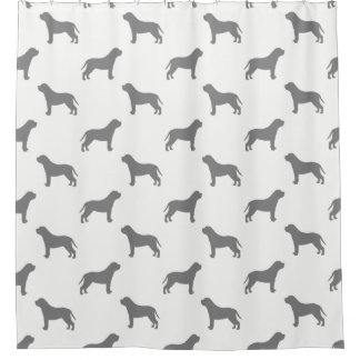Mastiff Silhouettes Pattern Shower Curtain