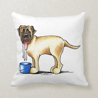 Mastiff Water Maker Throw Pillow