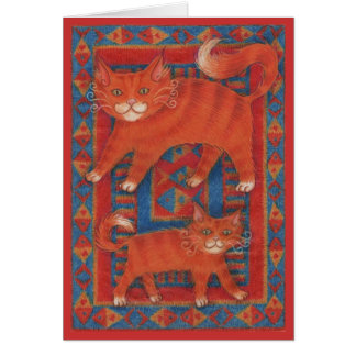 Mat Cats 'Happy Father's Day' greetings card