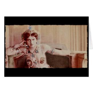 Mata Hari Harem Costume Greeting Card