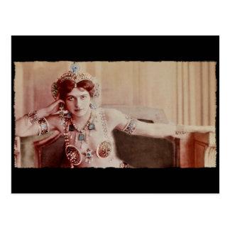 Mata Hari Harem Costume Postcard