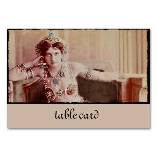 Mata Hari Harem Costume Table Cards
