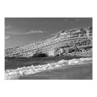 Matala - the sun, the sea and the caves photo print