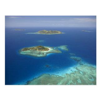 Matamanoa Island and coral reef, Mamanuca Island Postcard