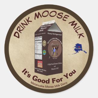 Matanuska Moose Milk Classic Round Sticker