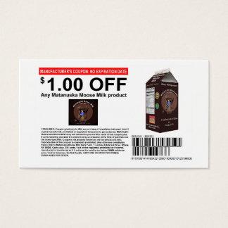 Matanuska Moose Milk Coupon Business Card