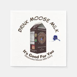 Matanuska Moose Milk Paper Serviettes