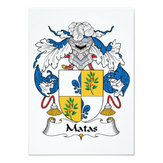 Matas Family Crest Card