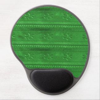 Match Decor sparkle emerald green goodluck energy Gel Mouse Pad