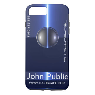 Matching 3D Blue Sphere Business Card i phone case