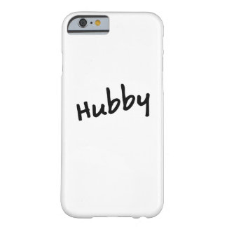 Matching Couple Hubby Honeymoon Anniversary Barely There iPhone 6 Case