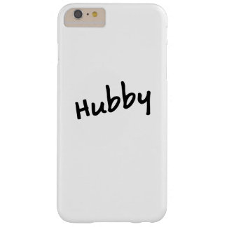 Matching Couple Hubby Honeymoon Anniversary Barely There iPhone 6 Plus Case