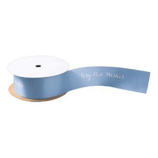 Matching solid pale blue ribbon satin ribbon