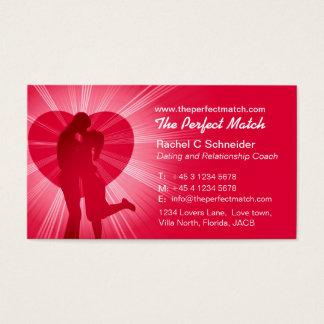 Matchmaker relationship coach business card