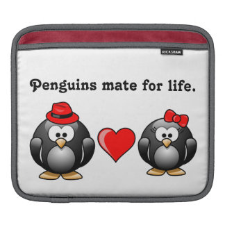 Mate for Life Red Heart So Glad You're My Penguin Sleeve For iPads
