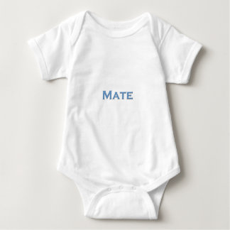 """Mate"" Nautical Text Logo Baby Bodysuit"
