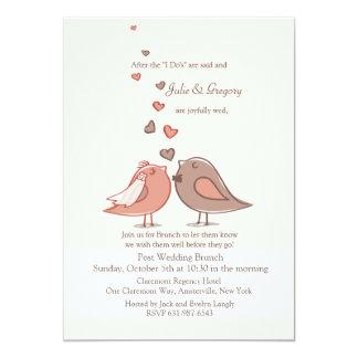 "Mated Post Wedding Brunch Invitation 5"" X 7"" Invitation Card"